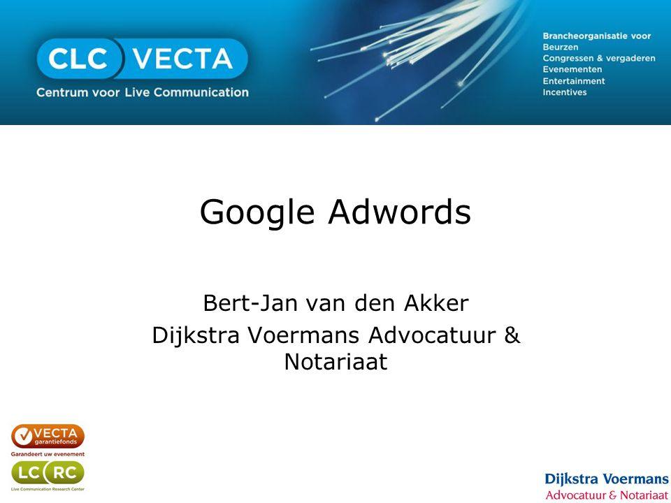 Google Adwords Bert-Jan van den Akker Dijkstra Voermans Advocatuur & Notariaat