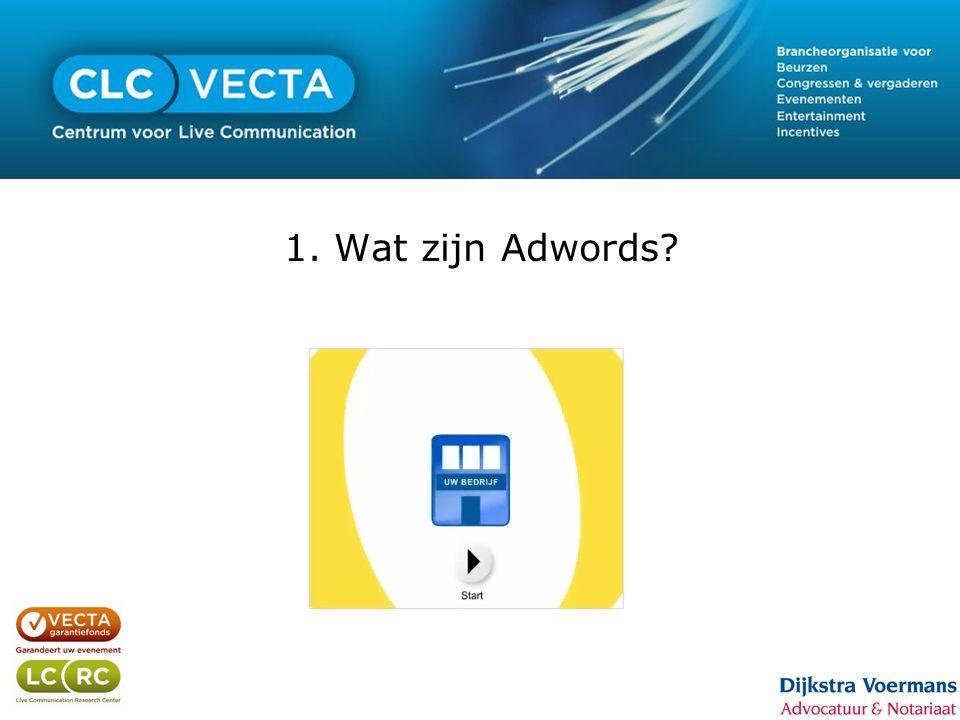 1. Wat zijn Adwords?