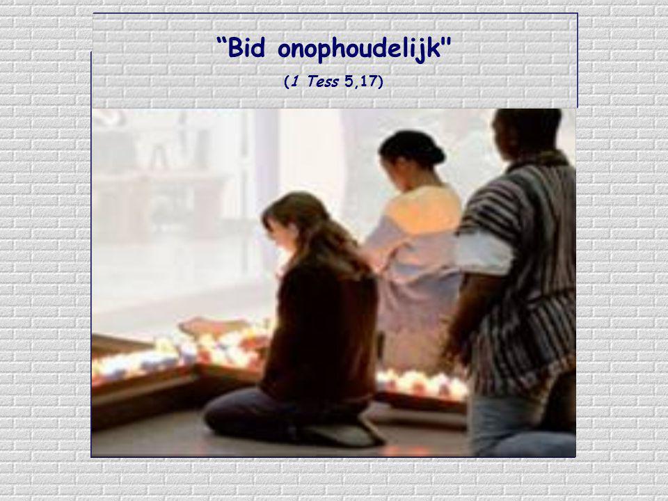 Wat ons kan helpen is dat we aan God iedere handeling aanbieden met de woorden: Voor U, Jezus Voor U, Jezus