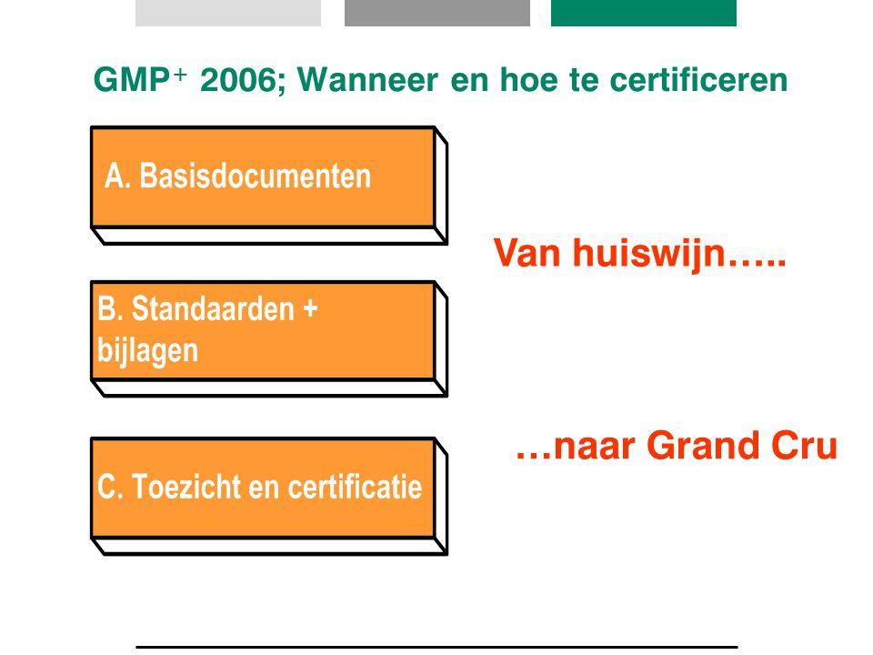 GMP + 2006; Wanneer en hoe te certificeren Van huiswijn….. …naar Grand Cru