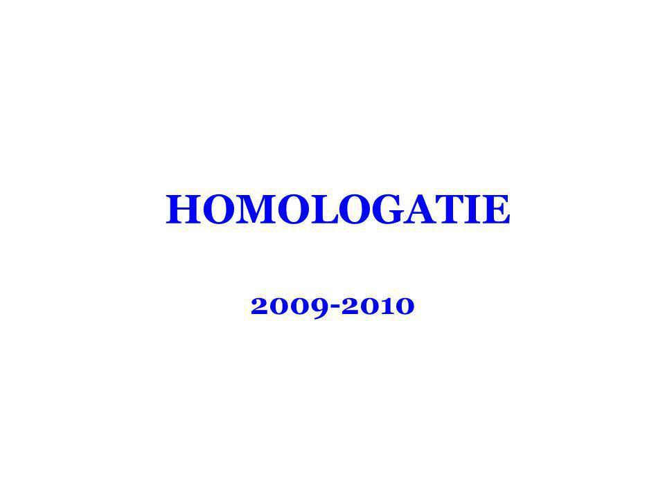 HOMOLOGATIE 2009-2010