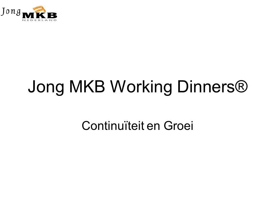Jong MKB Working Dinners® Continuïteit en Groei