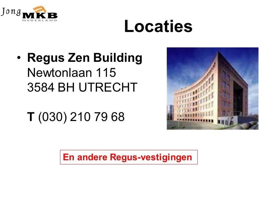 Locaties •Regus Zen Building Newtonlaan 115 3584 BH UTRECHT T (030) 210 79 68 En andere Regus-vestigingen