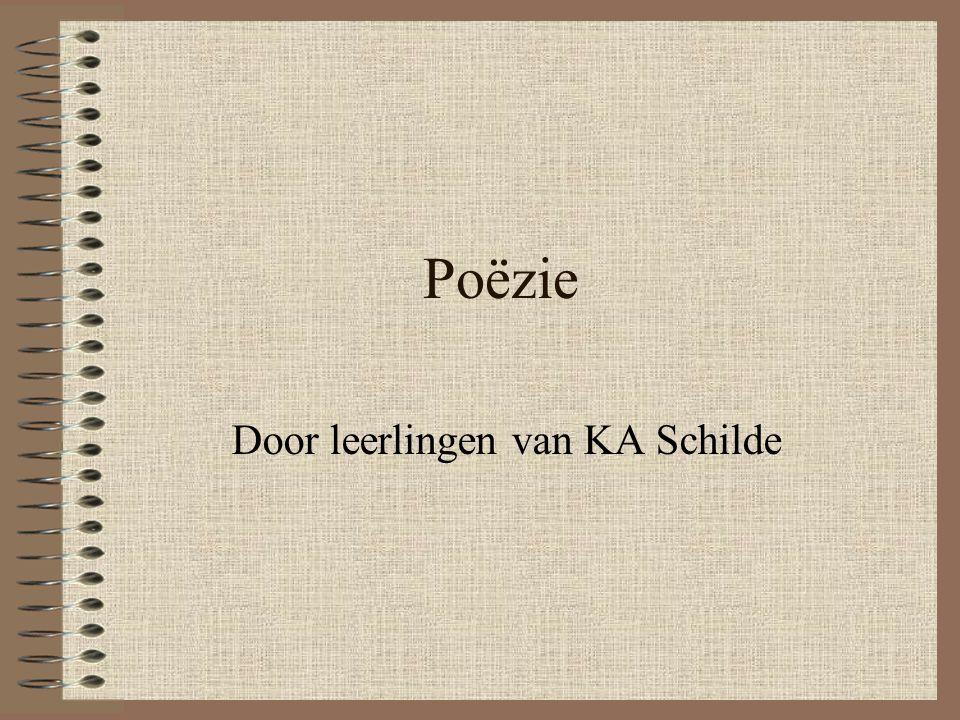 Poëzie Door leerlingen van KA Schilde