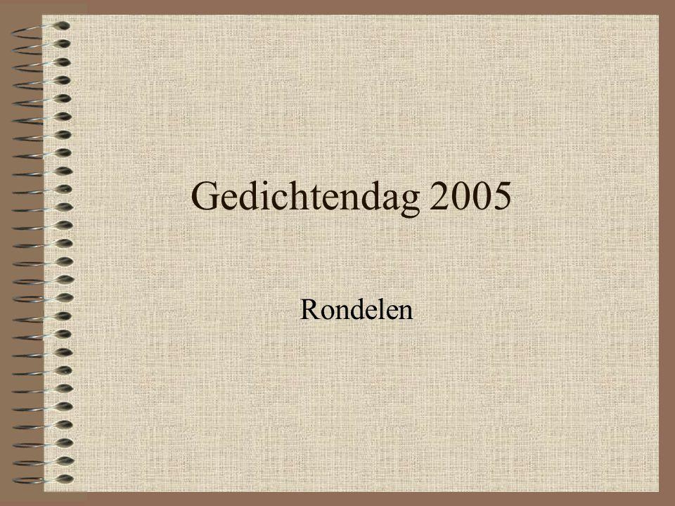 Gedichtendag 2005 Rondelen