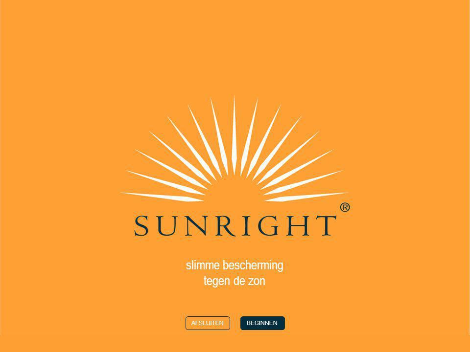 slimme bescherming tegen de zon AFSLUITENBEGINNEN