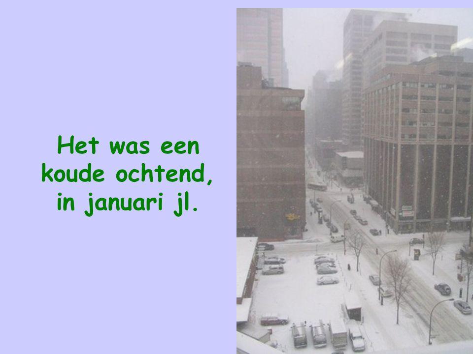 Het was een koude ochtend, in januari jl.