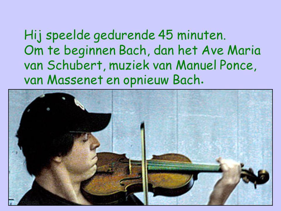 Een van de mogelijke conclusies na deze ervaring kan zijn : Als we niet de tijd hebben om te stoppen en te luisteren wanneer een van de beste muzikanten ter wereld een van de mooiste partituren speelt,hoeveel andere buitengewone zaken laten we dan ook aan ons voorbijgaan?