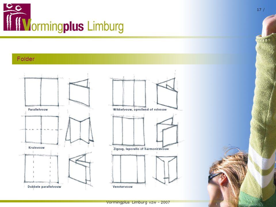 Vormingplus Limburg vzw - 2007 17 / Folder