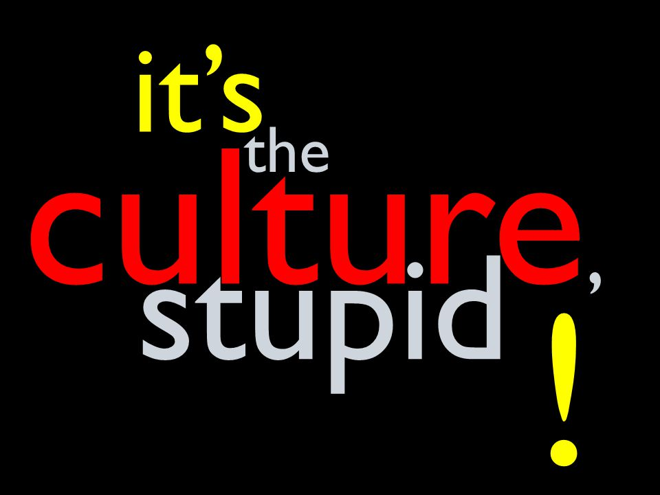 culture, it's stupid the !