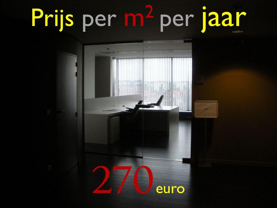 Prijs per m 2 per jaar 270 euro