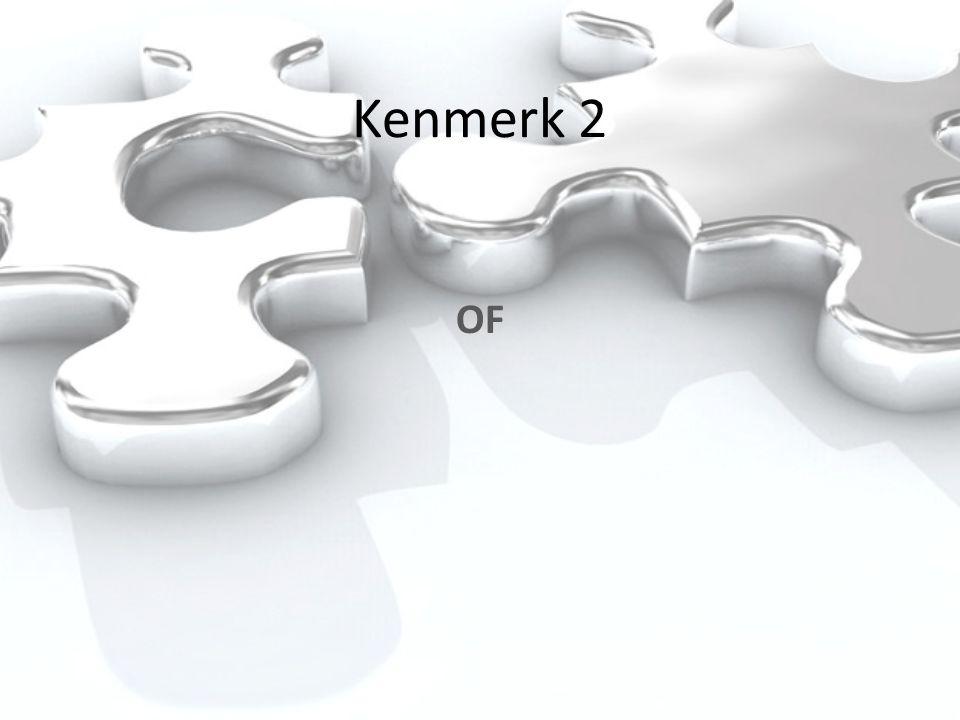 Kenmerk 2 OF