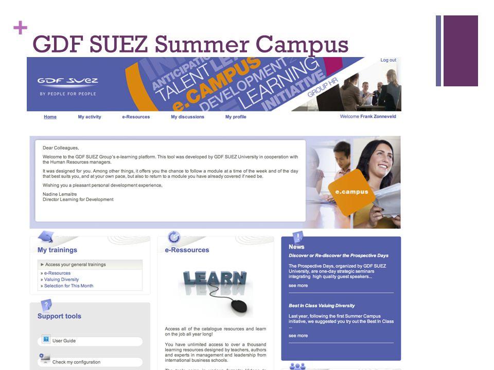 + GDF SUEZ Summer Campus