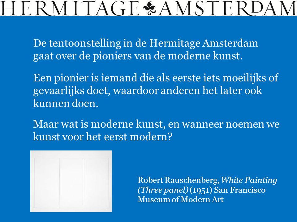 Maar wat is moderne kunst, en wanneer noemen we kunst voor het eerst modern? De tentoonstelling in de Hermitage Amsterdam gaat over de pioniers van de
