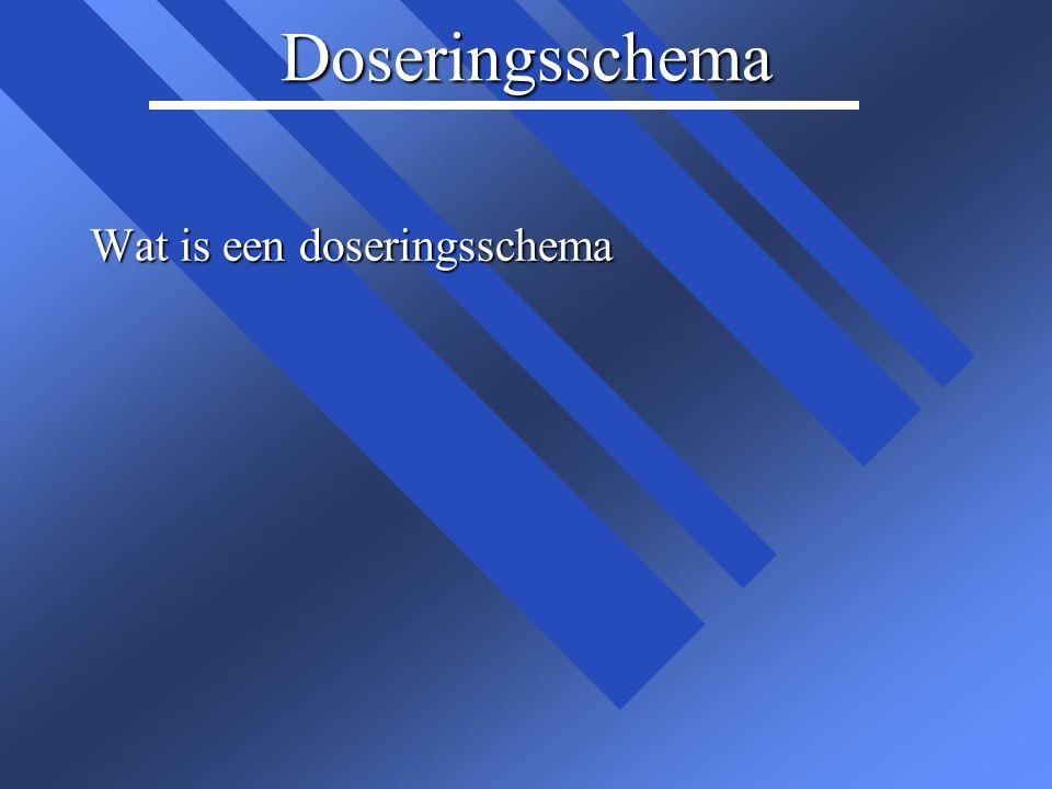 Doseringsschema Wat is een doseringsschema