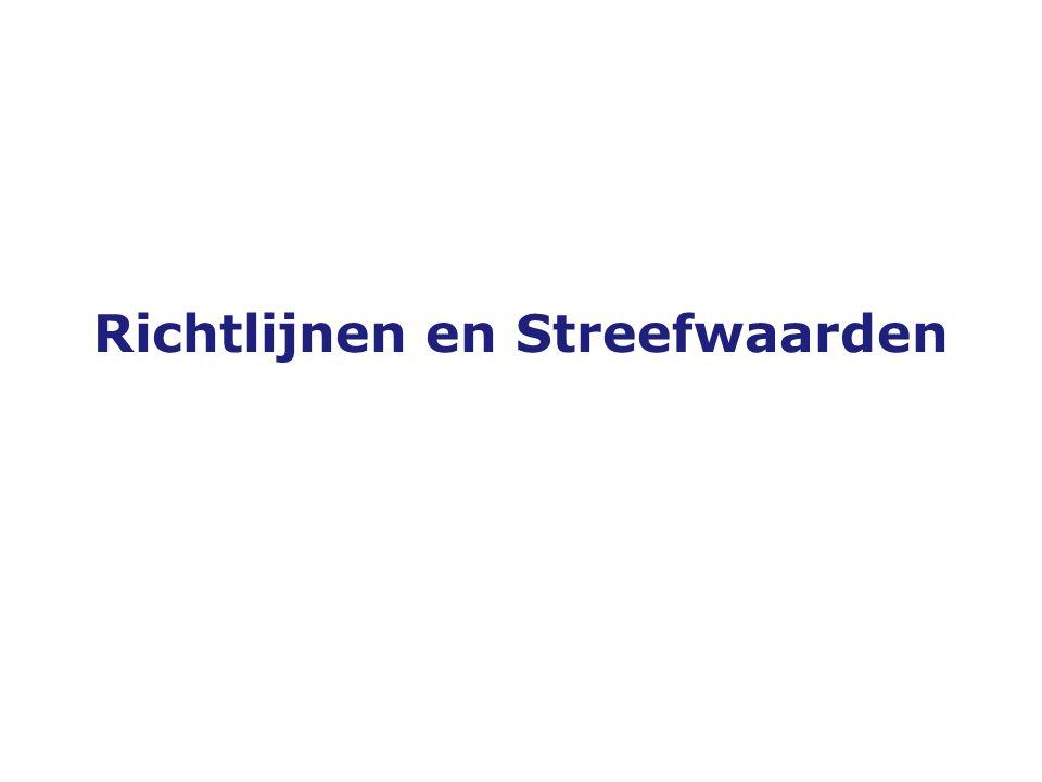Versie 19-10-2005 Richtlijnen en Streefwaarden