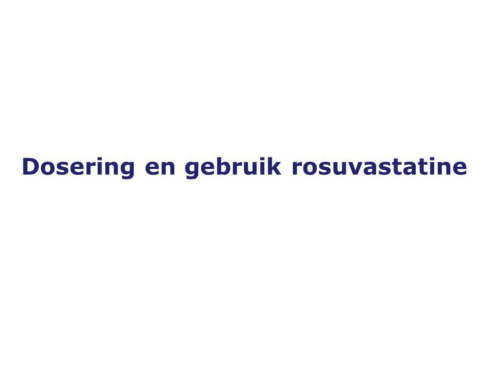 Versie 19-10-2005 Dosering en gebruik rosuvastatine