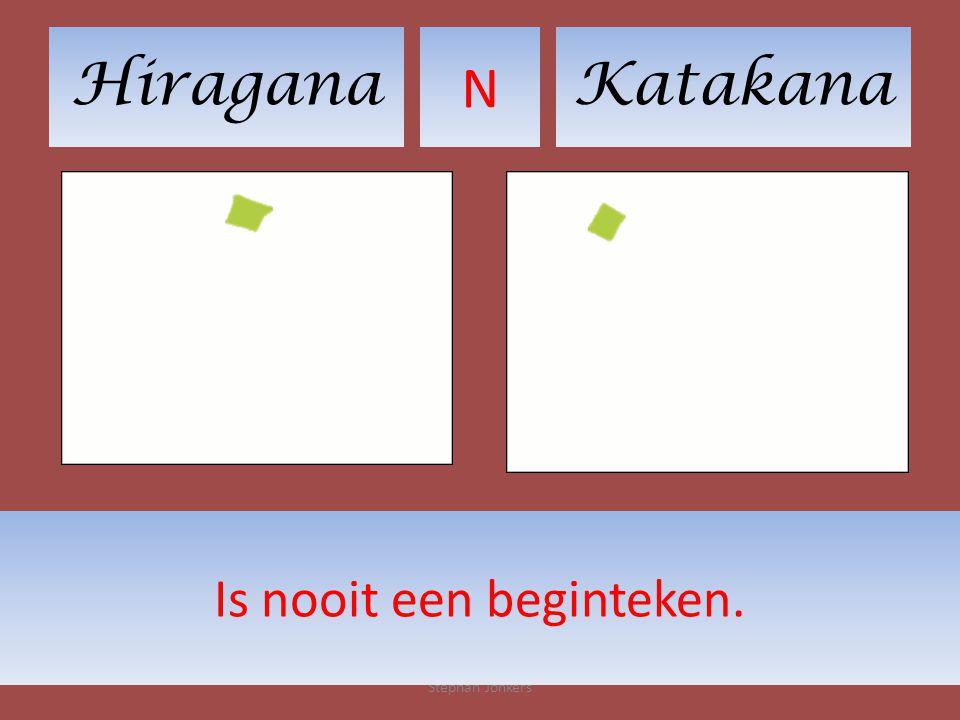 HiraganaKatakana N Stephan Jonkers Is nooit een beginteken.