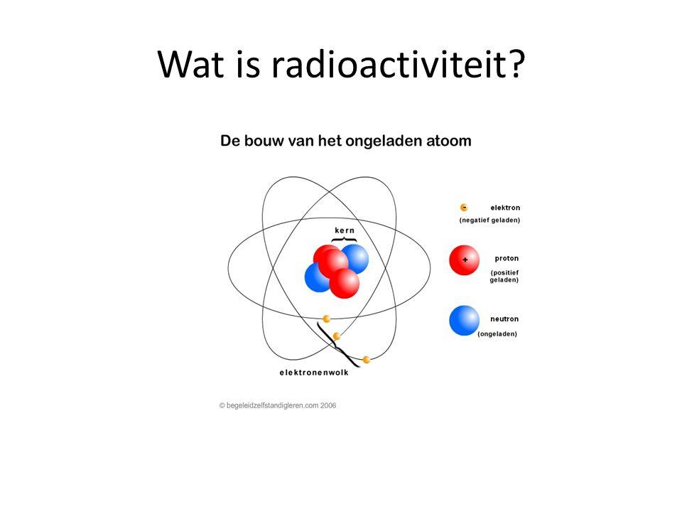 De kern van een atoom bestaat uit een mengeling van neutronen en protonen.