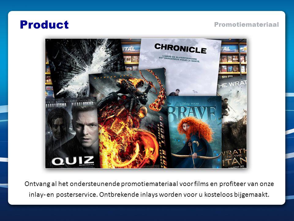 Ontvang al het ondersteunende promotiemateriaal voor films en profiteer van onze inlay- en posterservice.