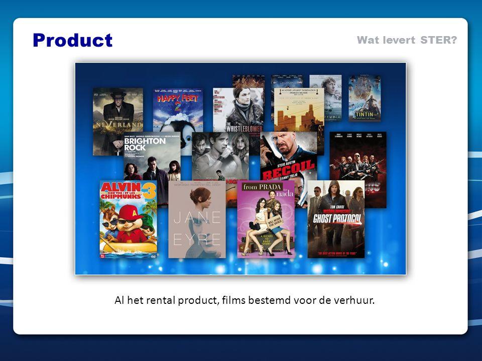 Al het rental product, films bestemd voor de verhuur. Product Wat levert STER?