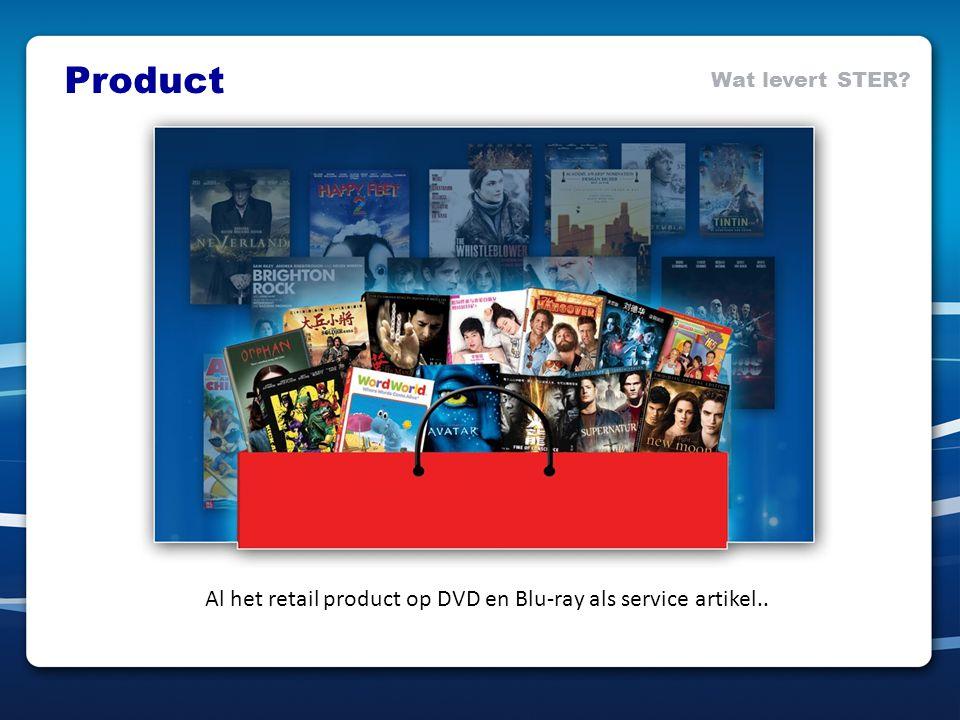 Al het retail product op DVD en Blu-ray als service artikel.. Product Wat levert STER