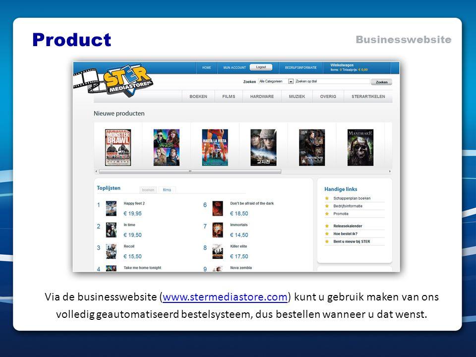 Via de businesswebsite (www.stermediastore.com) kunt u gebruik maken van onswww.stermediastore.com volledig geautomatiseerd bestelsysteem, dus bestellen wanneer u dat wenst.