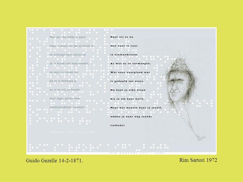 Guido Gezelle 14-2-1871. Rim Sartori 1972