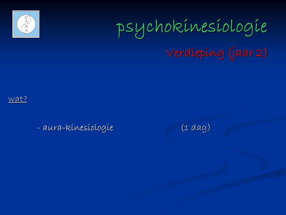 psychokinesiologie psychokinesiologie wat? - aura-kinesiologie(1 dag) Verdieping (jaar 2)