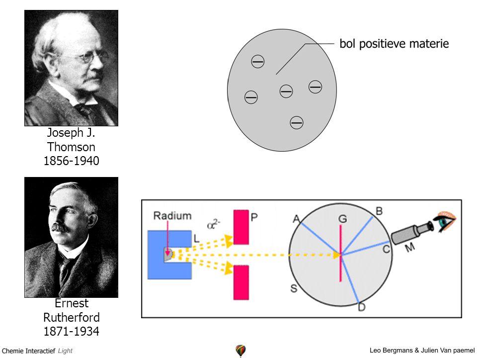 Joseph J. Thomson 1856-1940 Ernest Rutherford 1871-1934