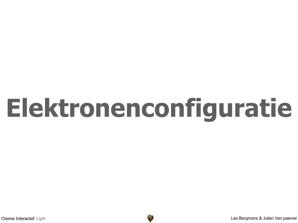 Elektronenconfiguratie
