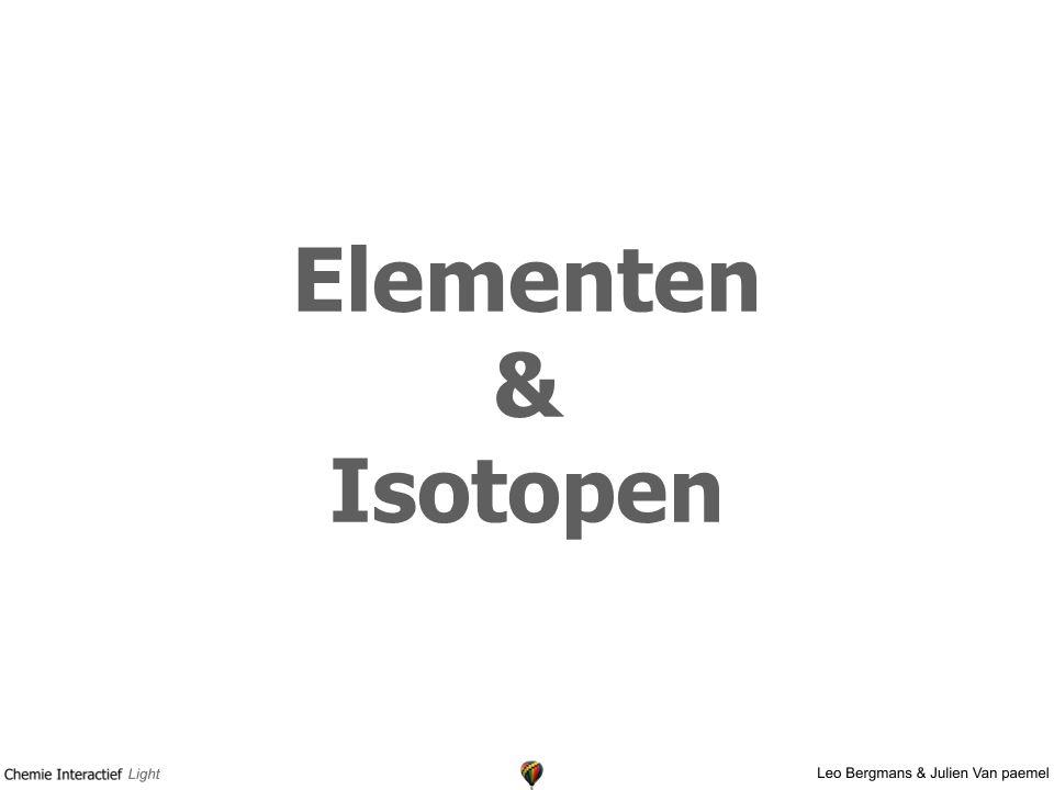 Elementen & Isotopen