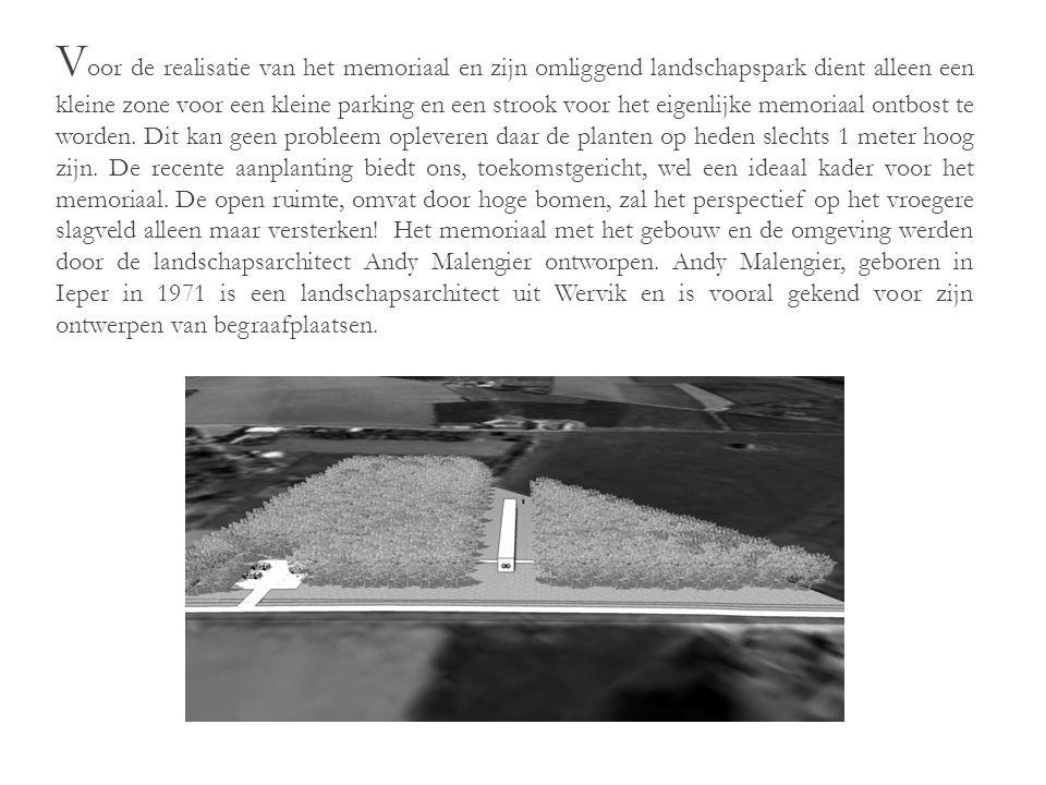V anuit dit punt staat men centraal en heeft men zicht op de ten oosten gelegen velden waar de slag om het Polygone bos op 26 September woedde.
