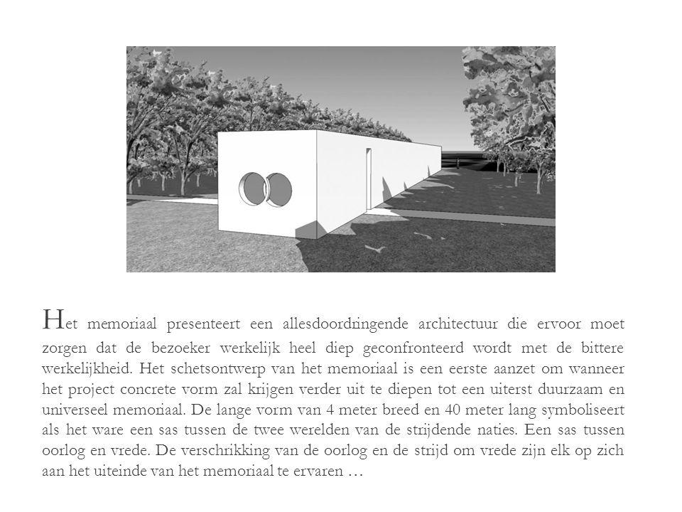 V oor de realisatie van het memoriaal en zijn omliggend landschapspark dient alleen een kleine zone voor een kleine parking en een strook voor het eigenlijke memoriaal ontbost te worden.
