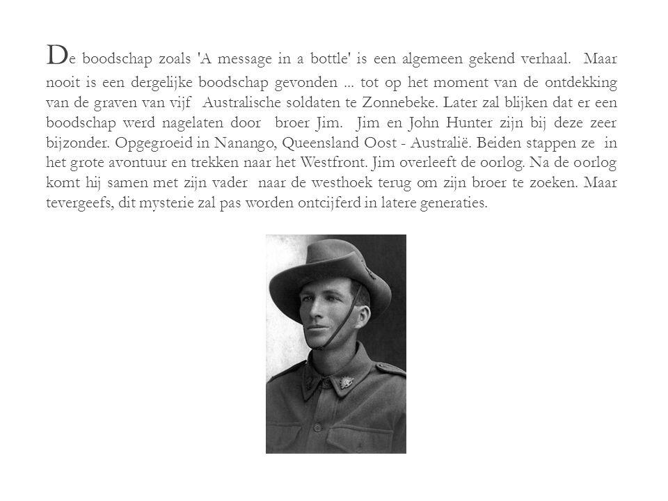 D e O ntdekking van J ohn H unter 21 augustus 1889 - 26 september 1917