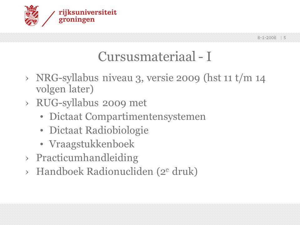 8-1-2008 | 5 Cursusmateriaal - I ›NRG-syllabus niveau 3, versie 2009 (hst 11 t/m 14 volgen later) ›RUG-syllabus 2009 met • Dictaat Compartimentensyste