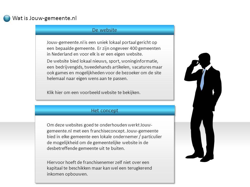 Jouw-gemeente.nl is een uniek lokaal portaal gericht op een bepaalde gemeente. Er zijn ongeveer 400 gemeenten in Nederland en voor elk is er een eigen