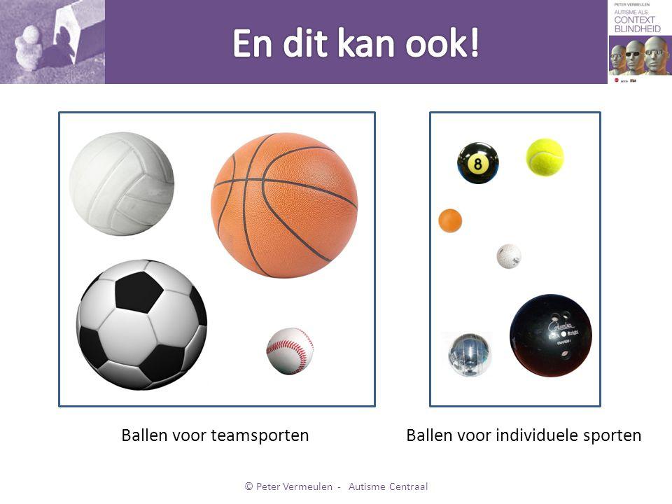Voor teamsportenVoor individuele sporten © Peter Vermeulen - Autisme Centraal