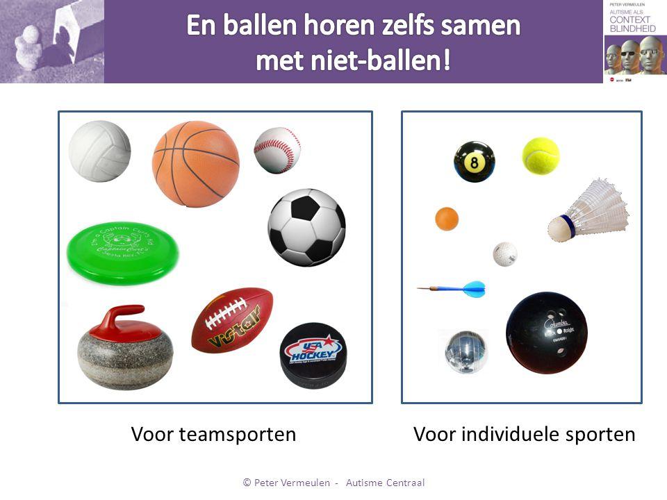 • En zo zijn er nog wel meer mogelijkheden om ballen te groeperen… • Kortom: hoe je dingen categoriseert, hangt af van de context.