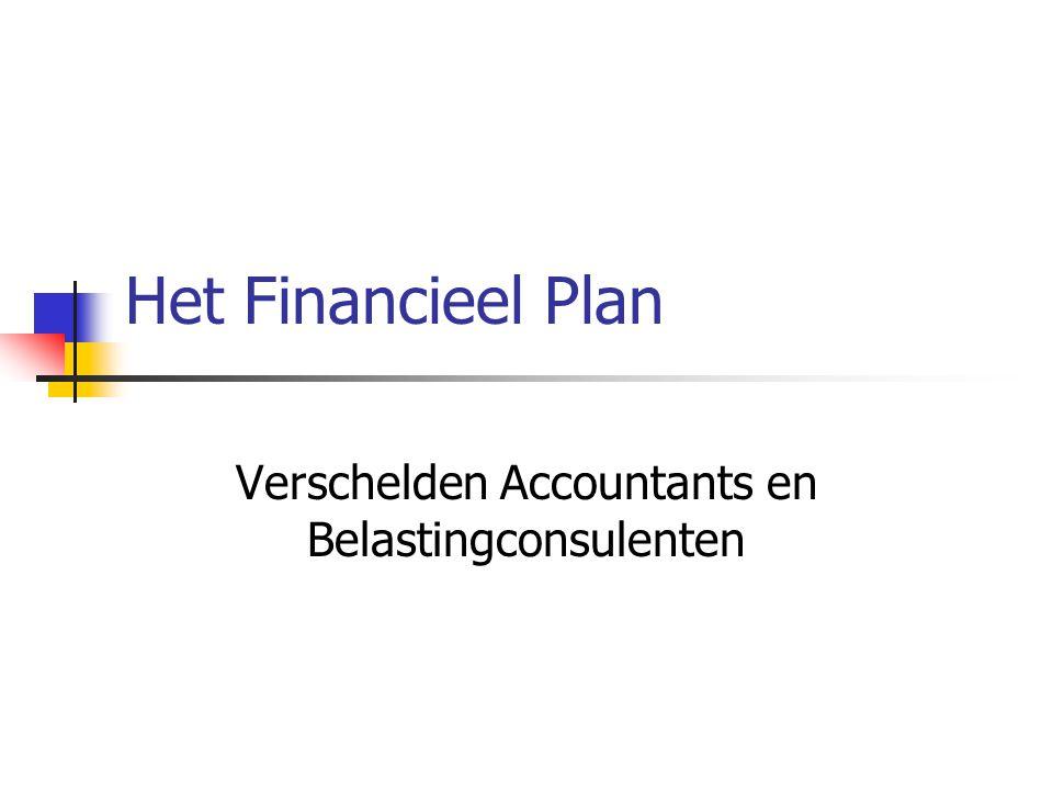 Het Financieel Plan Verschelden Accountants en Belastingconsulenten