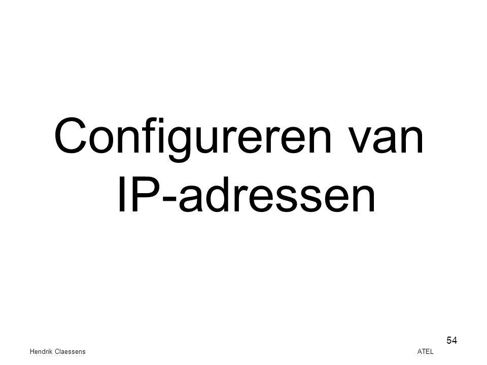 Hendrik Claessens ATEL 54 Configureren van IP-adressen