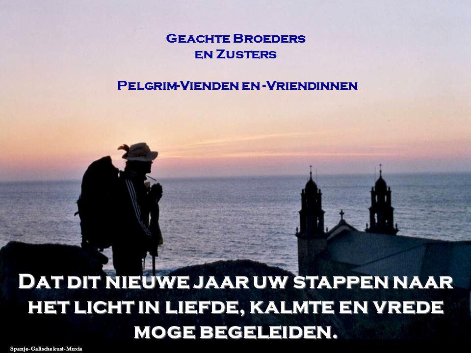 Geachte Broeders en Zusters Pelgrim-Vienden en -Vriendinnen Dat dit nieuwe jaar uw stappen naar het licht in liefde, kalmte en vrede moge begeleiden.