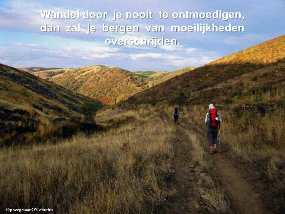 Weg van Châtaigniers naar Trabadelo « Stap met twee zakken, een om te geven, de andere om te ontvangen, dan zal je gelukkig leven. »