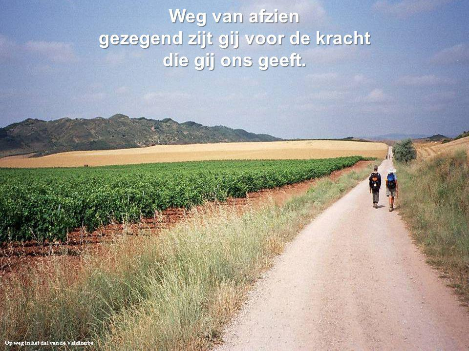 Op weg in het dal van de Valdizarbe Weg van afzien gezegend zijt gij voor de kracht die gij ons geeft.