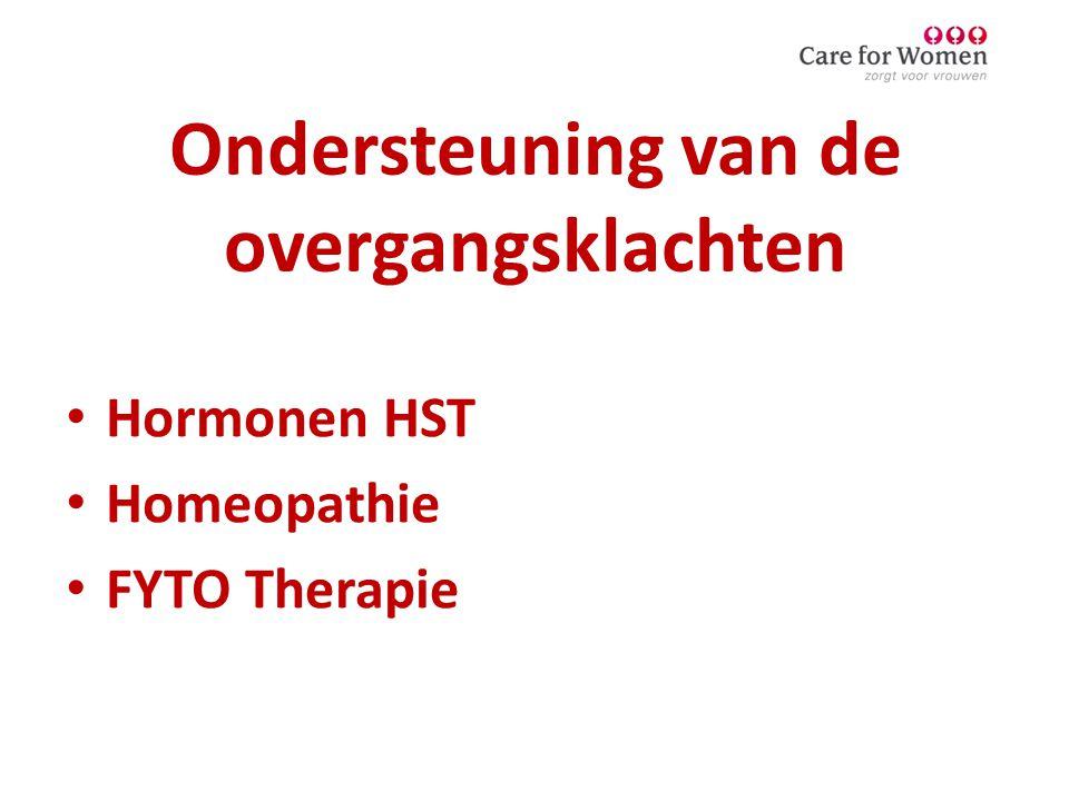 Ondersteuning van de overgangsklachten • Hormonen HST • Homeopathie • FYTO Therapie