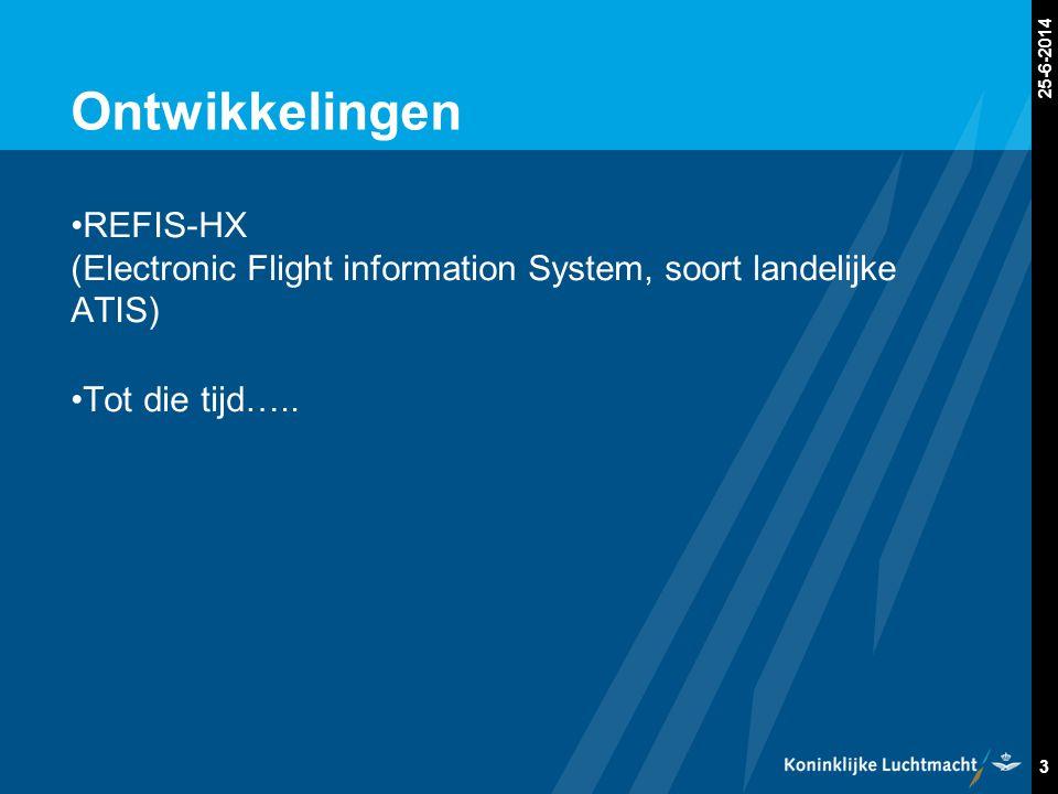 Gewenste Situatie Concreet: •Zorg voor een goede vluchtvoorbereiding (NOTAM's, PDIB of beschouw alles als actief) •Roep alleen op wanneer dit nodig is •Luister uit: wij zenden de QNH, veranderingen in status EHR3 & 9 en andere relevante informatie uit.