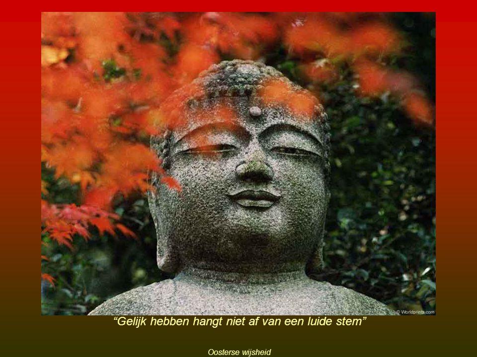 Gelijk hebben hangt niet af van een luide stem Oosterse wijsheid