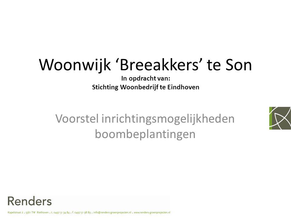 Woonwijk 'Breeakkers' te Son Voorstel inrichtingsmogelijkheden boombeplantingen In opdracht van: Stichting Woonbedrijf te Eindhoven