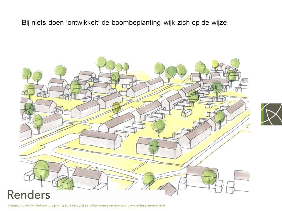 Visie gemeente Son en Breugel - Behouden bomenstructuur in wijk - Soepele overgang van het bosgebied naar de bebouwing - Niet kappen tenzij…