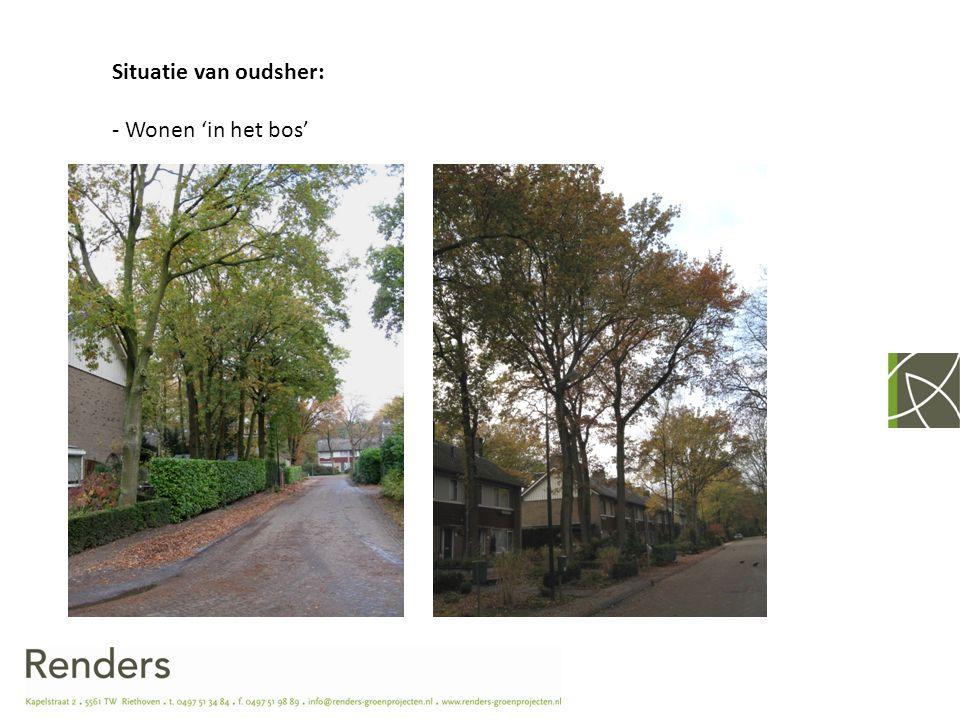 Situatie van oudsher: - Wonen 'in het bos'